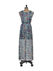 Chiffon Printed Maxi Dress - Femella