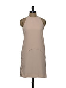 Single Tiered Dress In Old Rose - Femella