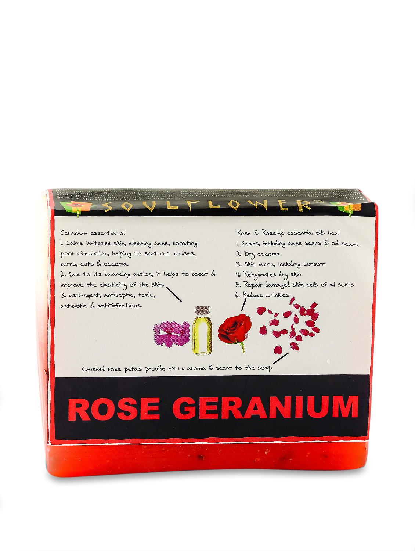 Rose And Geranium Soap (Vegan) - SOULFLOWER