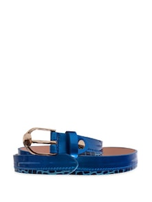 Royal Blue Skinny Belt - Belts By Just Women