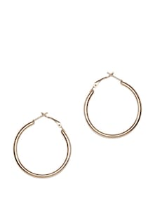 Sleek Gold-tone Hoop Earring - Toniq