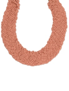 Woven Seed Beads Statement Necklace - Toniq