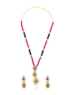 Majestic Multicolour Beads Necklace Set - KSHITIJ
