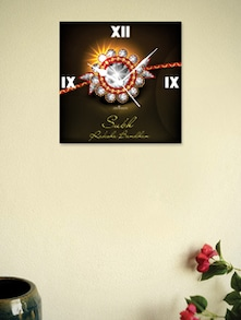 Designer Raksha Bandhan Wall Clock - Zeeshaan