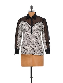 Printed Polyester Chiffon Top - House Of Tantrums