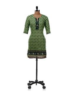 Green Printed Kurta - Aurelia