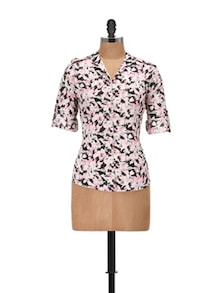 Wild Floral Ditsy Print Shirt - @ 499