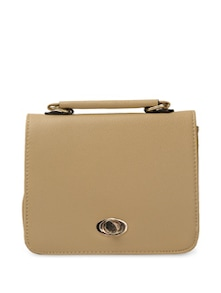 Stylish Beige Sling Bag - Toniq