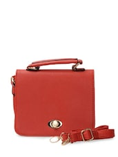 Stylish Red Sling Bag - Toniq