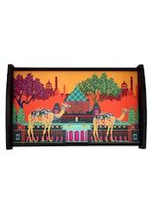 Camel Printed Ethnic Tray - The Elephant Company