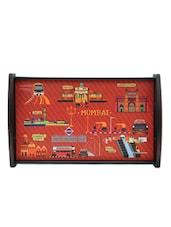 Mumbai Highlights Printed Arty Tray - The Elephant Company