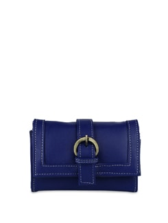 Blue Wallet With Mobile Phone Pocket - ALESSIA
