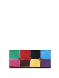 Multi Coloured Patchwork Wallet - ALESSIA 8211