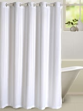 white bathroom curtains -  online shopping for shower curtains