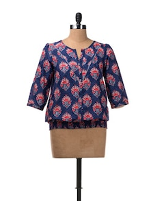 Button Down Top With Elasticated Waist - W