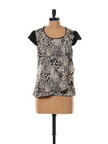 Leopard Printed Polyester Top - Mishka