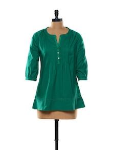 Gorgeous Green Cotton Top - Mishka