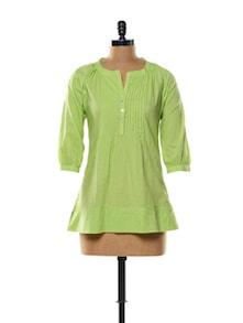 Light Green Cotton Top - Mishka