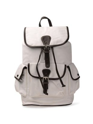 Winsome White Canvas Backpack -  online shopping for backpacks