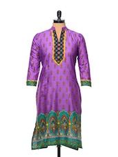 Purple Printed Kurti - AFSANA