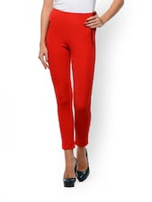 Skinny Red Ponte Pants - STREET 9