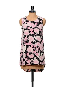 Effeminate Floral Print Polyester Top - Stylechiks