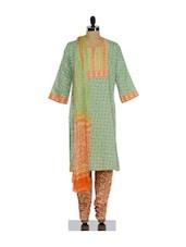 Dual Toned Traditional Churidar Suit - KILOL