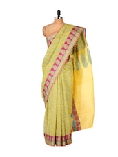 Yellow Cotton Silk Saree - Bunkar