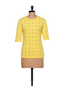 Rivetted Yellow Top - CHERYMOYA