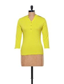 Simple Yellow Top - CHERYMOYA