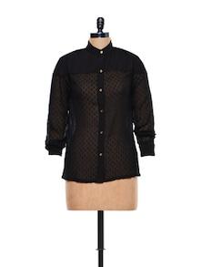 Sheer Black Shirt - CHERYMOYA