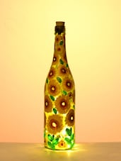 Sunflower LED Glass Bottle Lamp - BOTTLES NOT EMPTY