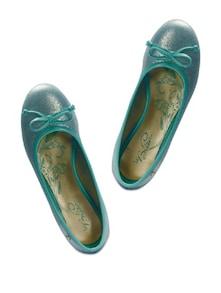 Sea-Green Shimmery Ballerinas - La Briza