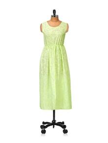 Front-slit Green Kurti - Popnetic