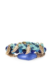 Blue Palette Bracelets (set Of Three) - Blueberry