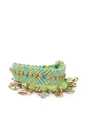Green Palette Bracelets (set Of 3) - Blueberry