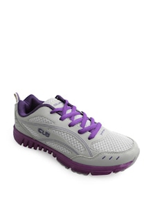 Sporty Grey And Purple Cushioned Sneakers - Columbus