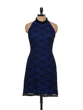 ROYAL BLUE AND BLACK DRESS - HERMOSEAR