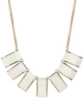 Cream And Gold Chunky Bib Necklace - Fayon
