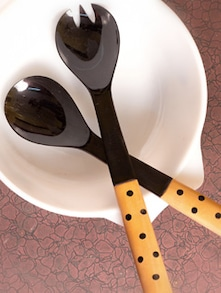 Buffalo Horn Polka Dot Salad Spoon Set - ARM'S