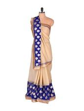 Regal Beige Chiffon Saree - Vishal Sarees