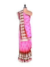 Leaf Print Chiffon Georgette Saree - Vishal Sarees