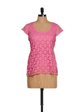 Pink Cotton Lace Top - Shabari
