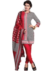 Printed Cotton Unstitched Dress Material - Ethnic Vibe