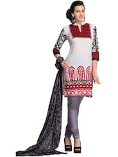 Ethnic Printed Unstitched Dress Material - Ethnic Vibe