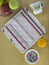 Striped And Sassy Set Of 2 Kitchen Pot Holders - Home Colors