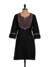 Satin Smooth Noir Ethnic Kurta - Vedanta