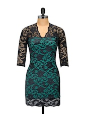 Green And Black Lace Dress - Ruby