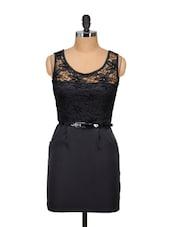 Black Sunflower Lace Dress - Ruby