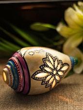 Shankh Shaped Hand Painted Light Holder - ExclusiveLane